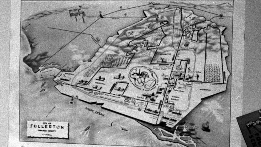 Map of Fullerton 1950